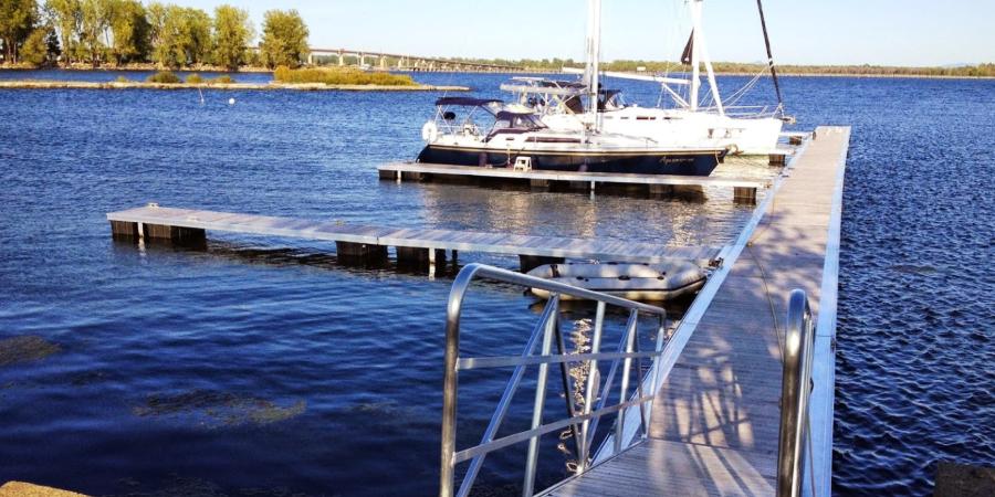 quai flottant bois aluminium 900x450